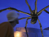 Giant Metal Spider Sculpture at Guggenheim Museum Photographic Print by Dominic Bonuccelli