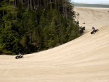 4X4 ATV Racing on Sand Dunes of Oregon Dunes Nra, Honeyman State Park Photographic Print by Emily Riddell
