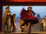 Performance of Folk Dancers, Cusco Photographic Print by Ralph Lee Hopkins