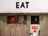 Eat' Sign on Exterior of Moondance Diner, 6th Avenue at Broome Street, Soho Photographic Print by Michelle Bennett