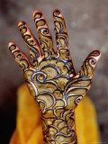 Henna Artwork on a Woman'S Hand in Main Bazaar, Parharganj Photographic Print by Richard I'Anson