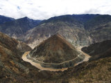 Half Moon Bend on the River Yangtze Photographic Print by Michael Gebicki