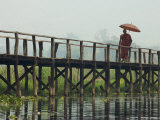 Monk Crosses a Bridge on the Eastern Shore Town Photographic Print by David Greedy