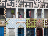 Colourful Intricate Tile Work on Building Facade Photographic Print by Orien Harvey
