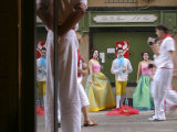 Trio of Painted and Costumed Street Performers Sing Opera on Calle Estafeta Photographic Print by Dominic Bonuccelli