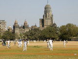 Cricket Match at Azad Maidans in Fort Photographic Print by Hira Punjabi