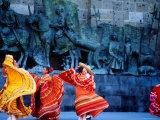 Performers in Front of Palacio De Justicia Photographic Print by Ryan Fox