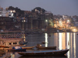 Dusk Descends over Ganges River Photographic Print by Orien Harvey