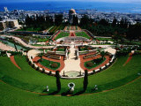 Bahai Shrine and Garden on Mount Carmel Photographic Print by Hanan Isachar