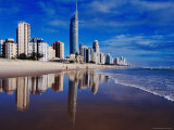 Hi-Rise Apartment Buildings and Surfers Paradise Beach Photographic Print by Richard I'Anson