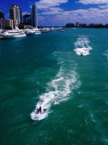 Jet Skis on Biscayne Bay Near Miami Beach Marina Photographic Print by Richard I'Anson