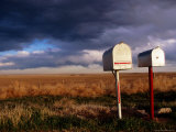 Mailboxes on Side of Route 77 Near Woodrow Photographic Print by Ionas Kaltenbach