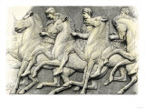 Athenian Horsemen from the Frieze of the Parthenon Giclee Print