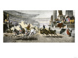 Chariot Race in the Circus Maximus of Ancient Rome Reproduction procédé giclée