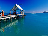 Pontoon for One of Pereybere's Many Luxury Resorts Photographic Print by Jean-Bernard Carillet