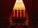 Behind the Curtain is the Supreme Court of Washington Dc Photographic Print by Rick Gerharter