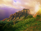 Kalalau Valley, Part of the Na Pali Coast from Lookout in Kokee Photographic Print by Ann Cecil