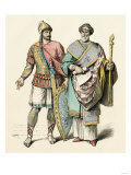 Soldier and a Government Official of Early Byzantium Giclee Print