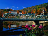 Famous Bridge of Flowers That Spans the Deerfield River in Shelburne Falls, Massachusetts Photographic Print by Charles Cook