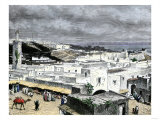 Tangier, Morocco, Overlooking the Strait of Gibraltar Giclee Print