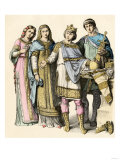 Charlemagne, King of the Franks and His Royal Court During the Middle Ages Giclee Print