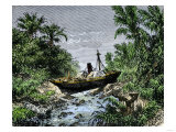 Ocean Steamship Carried Inland in Sumatra by Tsunami from the Krakatoa Eruption, 1883 Giclee Print