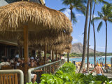 Dukes Canoe Club on the Beach at Waikiki in the Outrigger Waikiki Hotel Photographic Print by Ann Cecil