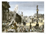 Procession in the Forum Romanum, Ancient Rome Giclee Print