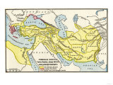 Map of the Persian Empire under Darius I, with Principal Satrapies, About 500 Bc Giclee Print