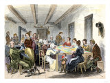 Quilting Party in Western Virginia, 1850s Giclee Print
