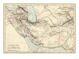 Mapa de Antigua Persian Empire Lámina giclée