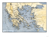 Map of Ancient Greece and its Colonies, Giclee Print