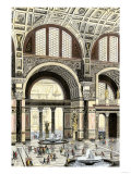 Citizens of Ancient Rome Enjoying the Baths of Caracalla Giclee Print