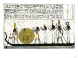 Sun-God Ra Embarking for His Daily Journey Through Egypt Giclee Print