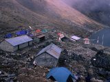 Camping Area and Pilgrims Shelters at Gosainkund, Gosainkund Trek Photographic Print by Chris Klep