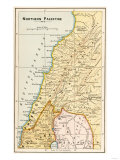 Map of Northern Palestine in Ancient Times Giclee Print