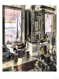Scholars Using the Great Library of Alexandria, Egypt, c.300-200 Bc Giclee Print