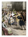 French-Canadians Enjoying a Dance in Early Quebec Giclee Print