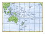 Map of the Pacific Island Groups, Giclee Print