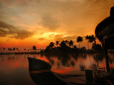 Cruise Boat Bow on Kerala's Backwaters at Sunset Photographic Print by Felix Hug