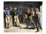 Gunman in a Western Saloon, 1800s Giclee Print