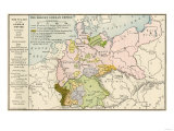Map of the German Empire before World War I, c.1912 Giclee Print