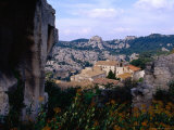 View of Hilltop Village of Les Baux-De-Provence Which Gives its Name to Bauxite, Once Mined Here Photographic Print by Jean-Bernard Carillet