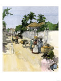 Jamaicans Bringing their Produce to Market, c.1890 Giclee Print