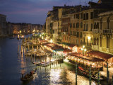 Grand Canal at Dusk, Seen from Rialto Bridge Photographic Print by Holger Leue