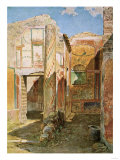 Home Interior in Pompeii, Excavated from the Ruins Giclee Print