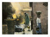 Outdoor Kitchen in a Jamaica Town, 1890s Giclee Print