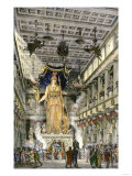 Statue of the Goddess Athena Inside the Parthenon, Ancient Athens Giclee Print