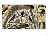Ancient Egyptian Deities Shu Separating Sibu and Nuit Giclee Print
