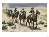Buffalo Soldiers in the Arizona Desert Giclee Print